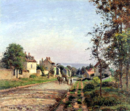 Camille Pissarro - At the outskirts of Louveciennes