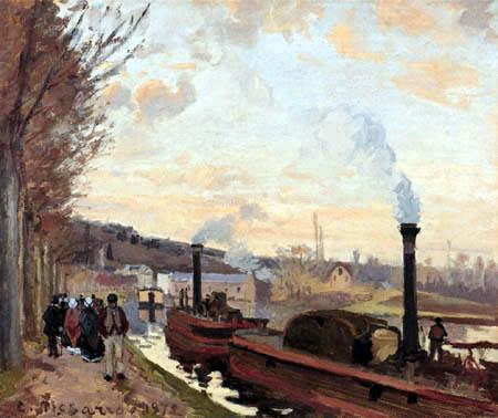 Camille Pissarro - The Seine near Port-Marly