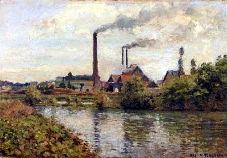Camille Pissarro - The factory in Pontoise