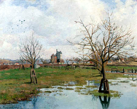 Camille Pissarro - Flooded meadows