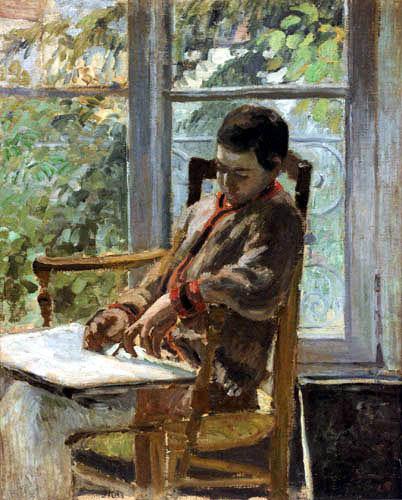 Camille Pissarro - Lucien Pissarro on the chair