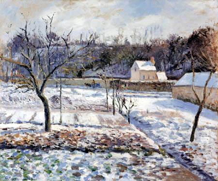 Camille Pissarro - Schnee in L´Hermitage, Pontoise