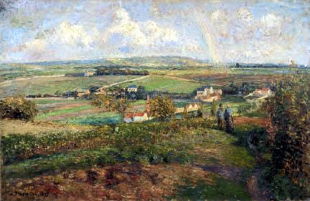 Camille Pissarro - Regenbogen über Pontoise