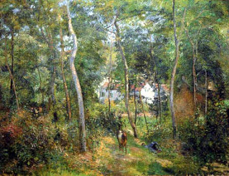 Camille Pissarro - The forests of L´Hermitage, Pontoise.