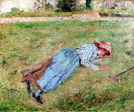 Camille Pissarro - Resting girl