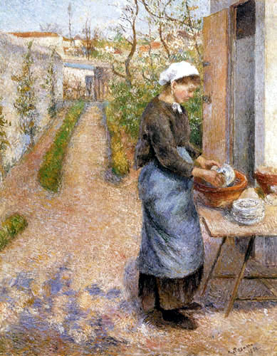 Camille Pissarro - Young Woman