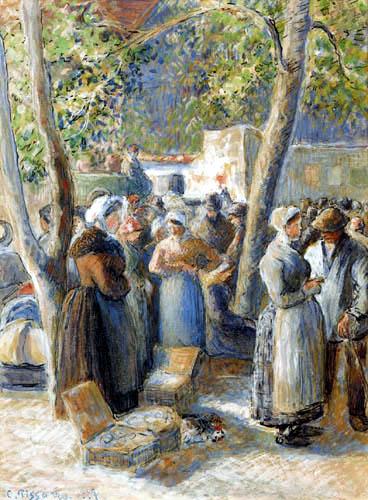 Camille Pissarro - Market in Gisors