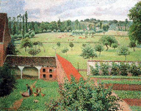 Camille Pissarro - View from my Window, Eragny