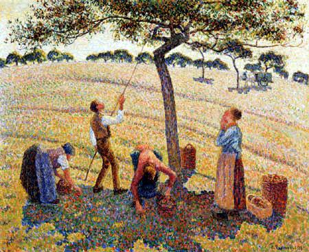 Camille Pissarro - Apfelernte in Eragny