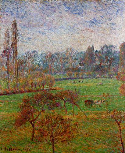 Camille Pissarro - A autumn morning, Eragny