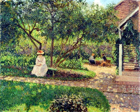 Camille Pissarro - In the Garden, Eragny