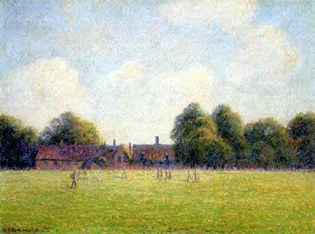 Camille Pissarro - Hampton Court Green, London