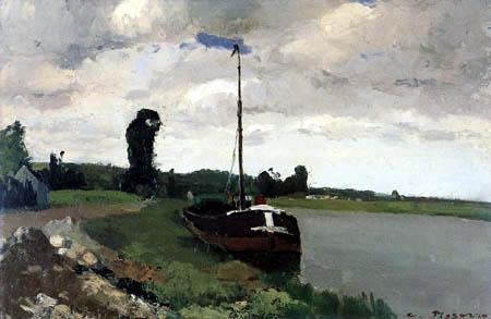 Camille Pissarro - Riverbank, Pontoise