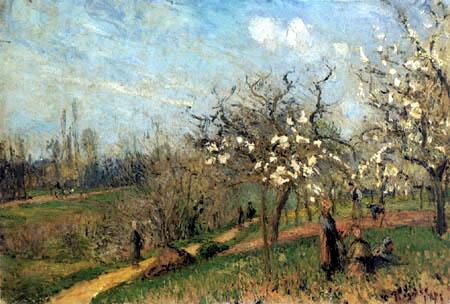 Camille Pissarro - Verger fleurissant