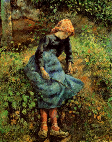 Camille Pissarro - Young girl