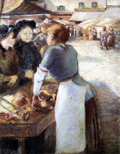 Camille Pissarro - The market stand
