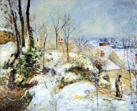 Camille Pissarro - Pontoise im Schnee