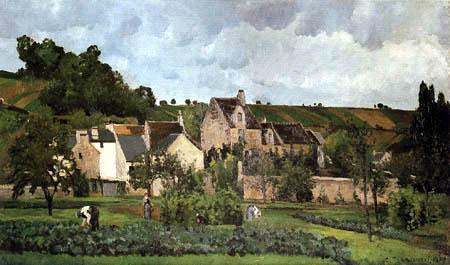 Camille Pissarro - El Hermitage en Pontoise