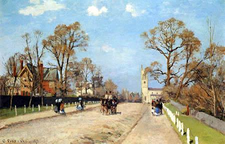 Camille Pissarro - The road in Sydenham