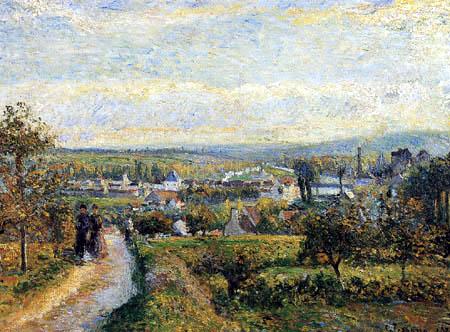 Camille Pissarro - Ansicht von Saint-Ouen l´Aumone