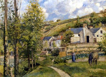 Camille Pissarro - Hermitage near Pontoise