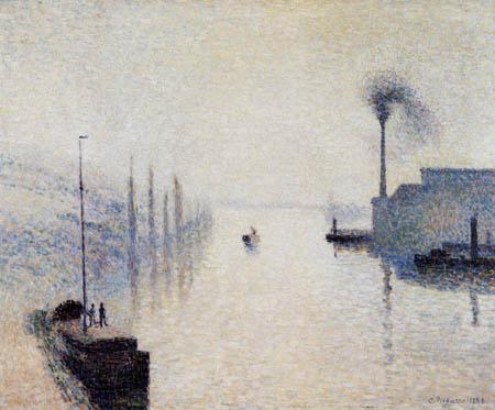 Camille Pissarro - Lacroix Island, Rouen in Fog