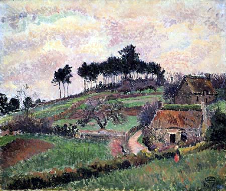 Lucien Pissarro - Brittany Cottages, Riec