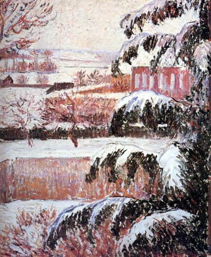 Lucien Pissarro - Nieve en Eragny