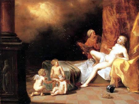 Cornelis van Poelenburgh - Danaé