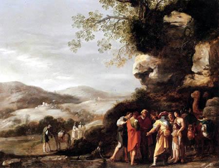 Cornelis van Poelenburgh - Joseph verkauft in Sklaverei