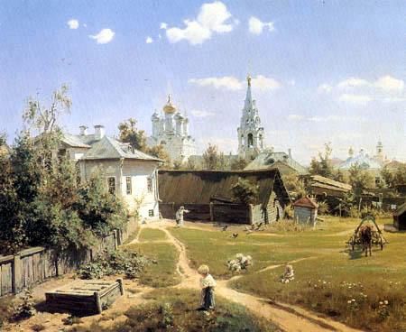 Wassili Dmitrijewitsch Polenow - A yard in Moscow