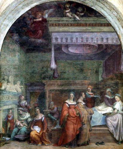 Jacopo da Pontormo - Die Geburt der Maria
