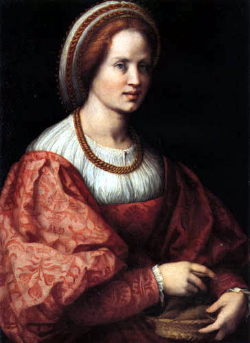 Jacopo da Pontormo - A woman with a basket of spindle