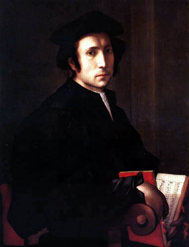 Jacopo da Pontormo - Portrait of a musician