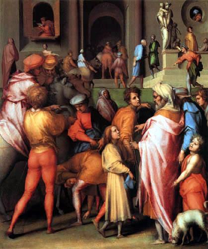 Jacopo da Pontormo - Joseph wird an Potiphar verkauft