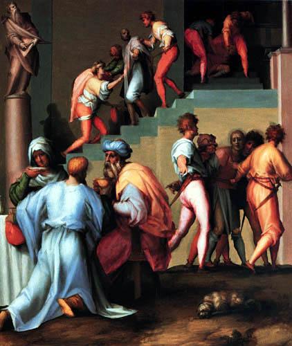 Jacopo da Pontormo - The punishment of the baker