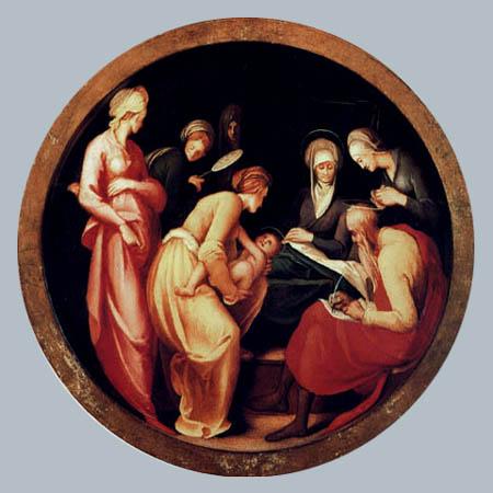 Jacopo da Pontormo - Geburt des hl. Johannes
