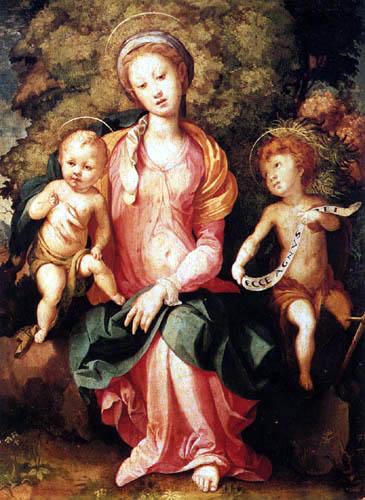 Jacopo da Pontormo - Madonna mit Kind und dem Johannesknaben