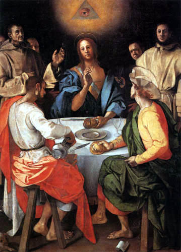 Jacopo da Pontormo - Christus und die Jünger in Emmaus