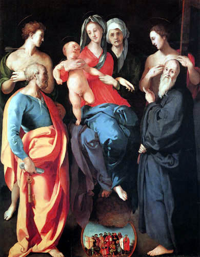 Jacopo da Pontormo - Anna Selbdritt with Saints