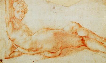 Jacopo da Pontormo - Weiblicher liegender Akt