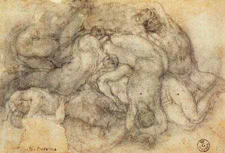 Jacopo da Pontormo - Group of figures of deluge, study