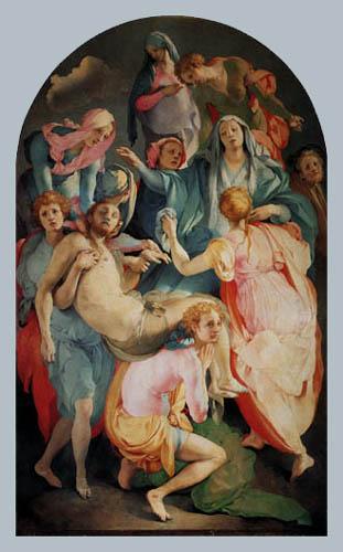Jacopo da Pontormo - The Entombment of Christ