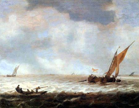 Jan Porcellis - Schiffe an der Küste