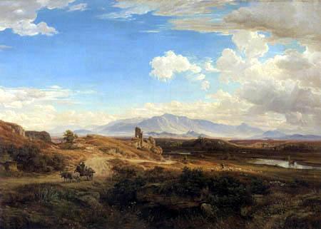 Eduard Wilhelm Pose - Campagna landscape near Torre del Quinto