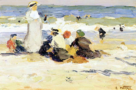Edward Potthast - At the Beach