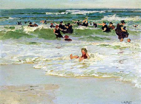 Edward Potthast - Child in the surf