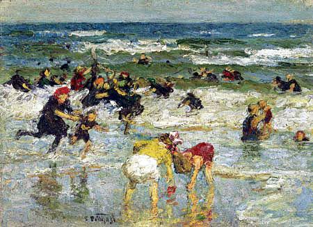 Edward Potthast - In the Surf