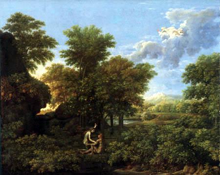 Nicolas Poussin - Adam and Eve in paradise