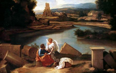Nicolas Poussin - Landscape with St Matthew